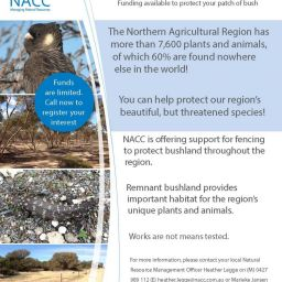 Funding is available to farmers through NACC's Habitat Fencing Incentive, aimed to help farmers protect their remnant bush land.