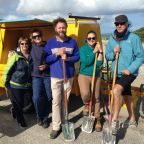 NACC's Coastal & Marine Team road testing the trailer with Friends of Point Moore.