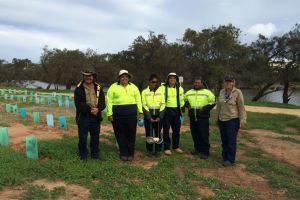 The Aboriginal Green Army Team showcase some of the revegetation and erosion control works carried out in the region.