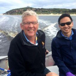 Bob Johnson (Friends of Moore River Estuary) and Ryan Kam (Department of Water) at Moore River Estuary.