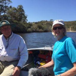 Ron Snook of Jurien Bay teams up with Linda Johnson to undertake estuary monitoring at Guilderton.