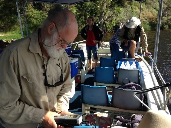 Estuary monitoring volunteers at Moore River estuary.