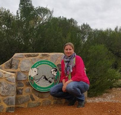 Marieke Jansen NACC new NRMO based in the Shire of Chapman Valley standing outside the shire office.