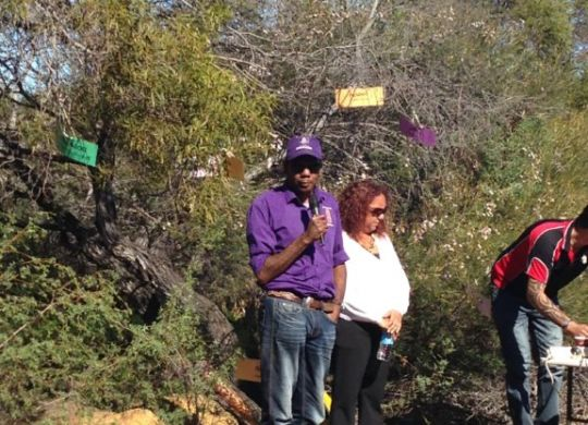 The Aboriginal Participation team took a tour of the proposed Dreaming Trail track last week.