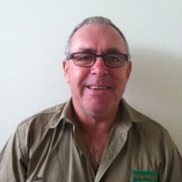 Jim Wedge, sustainable farmer is all smiles.