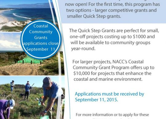 This program is supported by the Northern Agricultural Catchments Council, through the Australian Government's National Landcare Programme.