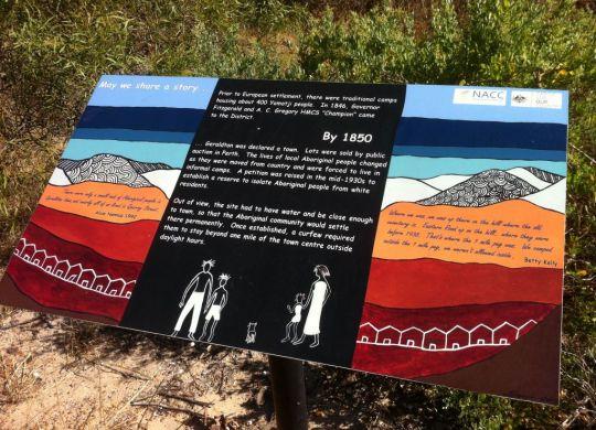 Interpretive signage at the Warlgu Trail.
