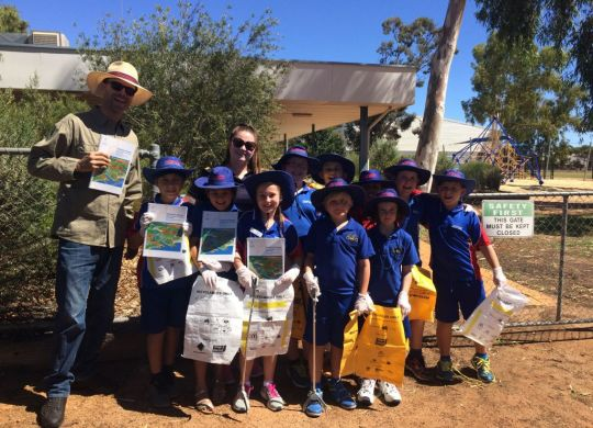 Clean Up Australia Day activities in Perenjori.