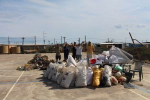Marine debris collected by local fisherman, BCMI staff and tourists in Wallabi Group.