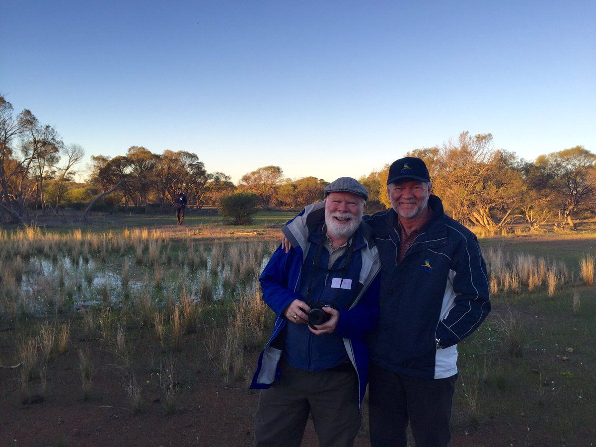 CEO Richard McLellan at Eurardy station with one of his mentors Prof Richard Hobbs.