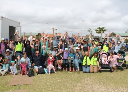 Those who stayed til the very last minute. It was a great turn-out for the annual Geraldton Big Beach Clean-up.