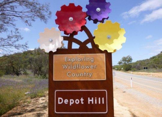 wildflower way sign post