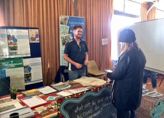 Sustainable Agriculture Project Manager Callum Love in action at the Dalwallinu Ag Show.