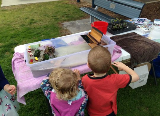 NACC's Coastal Community Trailer saw lots of young visitors joining in the fun.