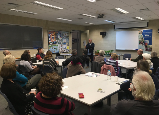 Neville Passmore discusses pollinators and the types of herbs that are useful for their health. Picture courtesy: Friends of Geraldton Gardens (FROGGS)