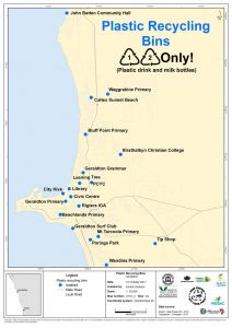 Plastic recycling bin locations map