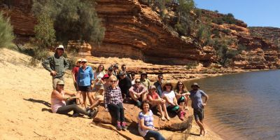More than twenty people hiked, canoed and cooed their way around the Murchison River nestled in Kalbarri National Park.