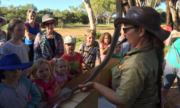 The children went wild for the animals during the Chapman River Wildlife Walk