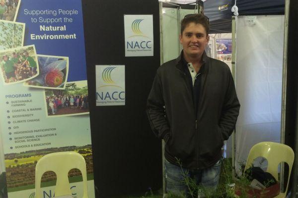 Callum Love at Mingenew Expo NACC Stand