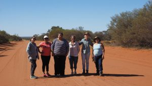 Four language groups sharing information during a Women's Bush food excursion in 2017. Picture: Nadine Smith