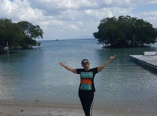 Bianca McNeair at the Orpheus Island James Cook University Research Station