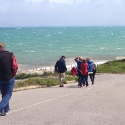 Coastcarers brave the storm at lunchtime