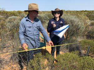 NACC CEO Richard McLellan and Bush Heritage ecologist Vanessa Westcott.