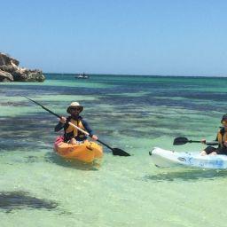 NACC Coastal and Marine team members Hamish and Vanessa put the kayaks to the test.