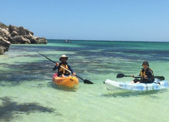 NACC Coastal and Marine team members Hamish and Vanessa put the kayaks to the test.