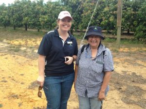 Sustainable Agriculture Program Coordinator Sally Fenner with former NACC Chair Jill Wilson.
