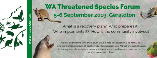 WA Threatened Species Forum (flyer)