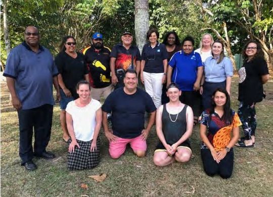 Yarrabah Mayor Ross Andrews (left) with the Steering Committee and Organising Committee.