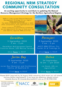 Regional NRM Strategy Community Consultation Flyer Page 1