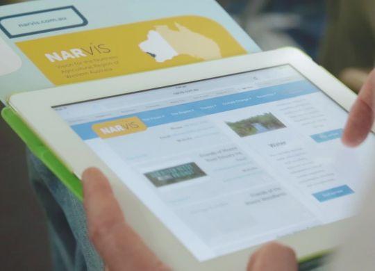 NARvis - on iPad 3